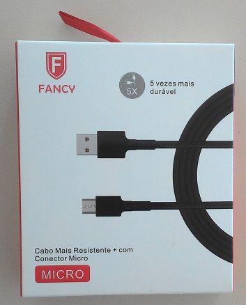 CABO USB TECIDO PREMIUM CA104 SMARTPHONE 2.1A V8 1,2M FANCY