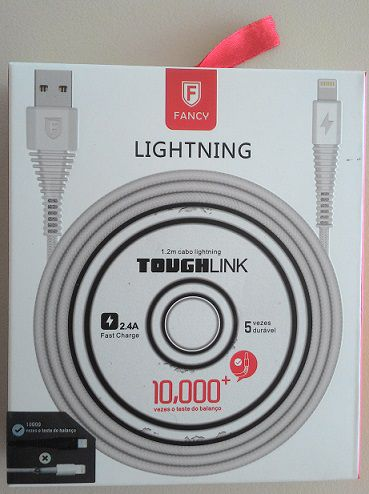 CABO USB TECIDO TOUGHLINK CA101 SMARTPHONE 2.1A LIGHTINING 1,2M FANCY