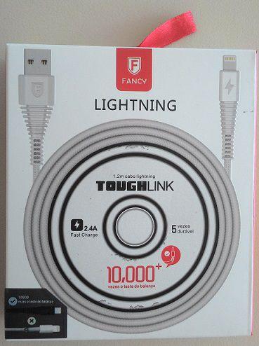 CABO USB TECIDO TOUGHLINK CA101 SMARTPHONE 2.1A LIGHTINING 1,2M FANCY