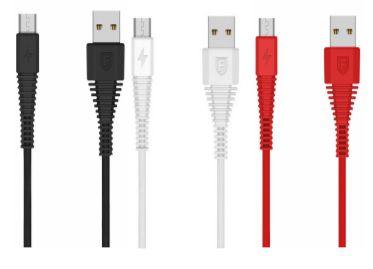 CABO USB TECIDO TOUGHLINK CA102 SMARTPHONE 2.1A V8 1,2M FANCY