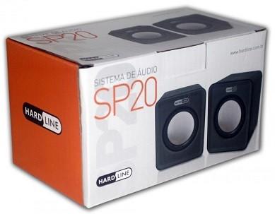 CAIXA DE SOM (PAR) USB PRETA GT-SP20 - HARDLINE