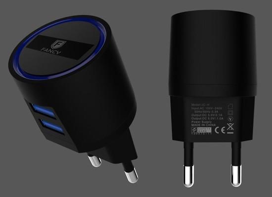CARREGADOR FAST DUAL USB 2.1A JC-H01i IPHONE