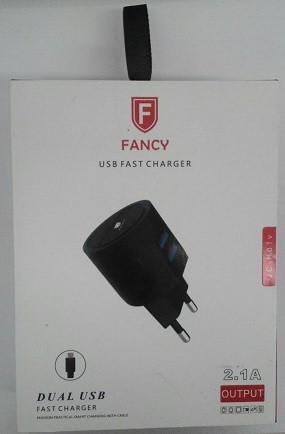CARREGADOR FAST DUAL USB 2.1A JC-H01V MICRO USB (V8)
