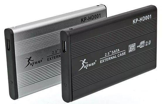 "CASE HD EXTERNO SATA - 2.5"" USB 2.0 - KP-HD001 KNUP"