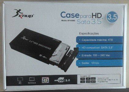 "CASE HD EXTERNO SATA - 3.5"" USB 2.0 - KP-HD002 KNUP"