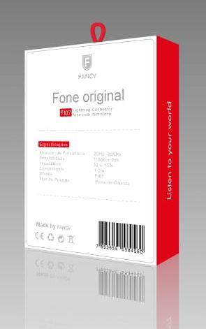 FONE INTRA-AURICULAR ORIGINAL IPHONE 7 F107 - FANCY - BRANCO