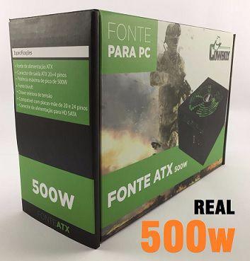 FONTE DE ALIMENTACAO ATX 500W REAL GAMER KP-534 KNUP