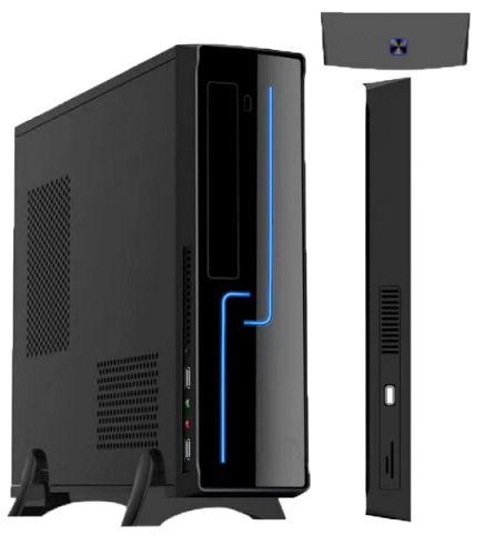GAB - BRAZIL PC - SLIM MICRO ITX - H308 BLACK COM FONTE 200W