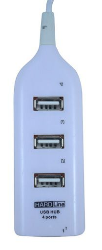 HUB USB 2.0 - BRANCO - 4 PORTAS - HL-HW01 HARDLINE