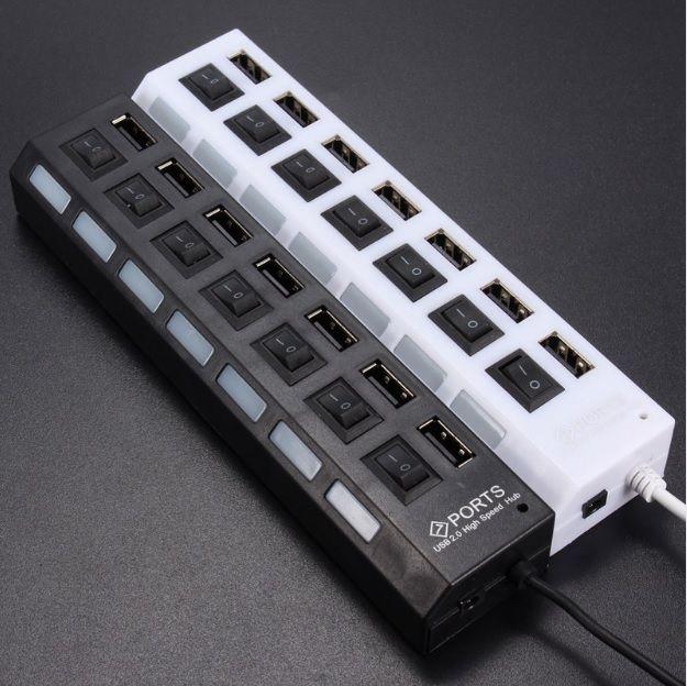 HUB USB 7 PORTAS HIGH SPEED C/ CABO USB 2.0 1267 DEX