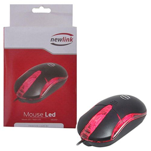 MOUSE LED MO310 PRETO NEWLINK