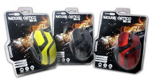MOUSE OPTICO GAMER 800 a 2400 DPI USB BLISTER MS-26 AM/PT