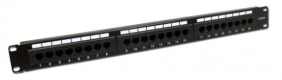 PATCH PANEL 24 P CONEXAO CAT5E 19 REF LY-PP5-11