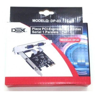 PLACA PCI-E 1SERIAL E 2 PARALELO DP-03 DEX