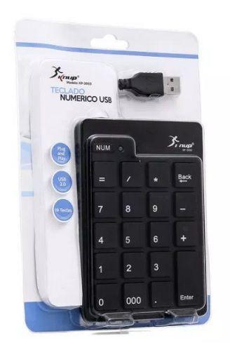 TECLADO NUMERICO - PRETO - USB - KP-2003 - KNUP