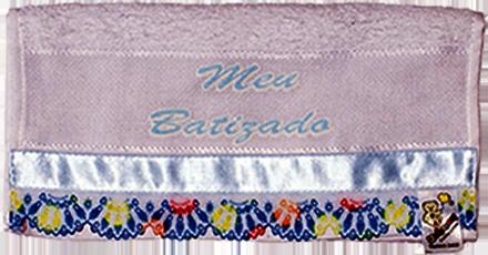 Toalha Individual Meu Batizado Com Silk