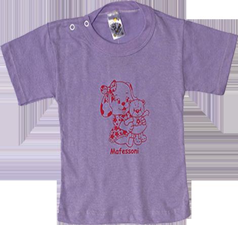 Camiseta Manga Curta com Botão