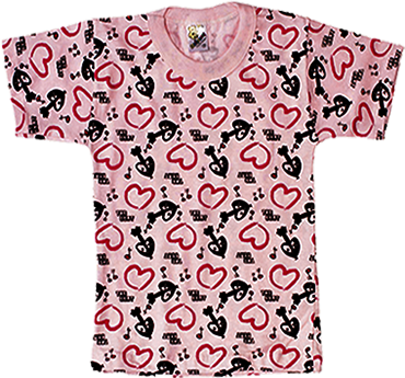 Comiseta Estampada Meia Manga Sem Silk