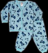 Pijama Estampado Felpado Aberto