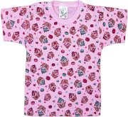 Camiseta Estampada Manga Curta Com Botão