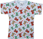Camiseta Manga Curta Estampada Sem Botão