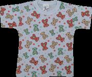 Camiseta meia Manga Estampada Sem Botão