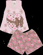Pijama Regata Feminina Com Silk