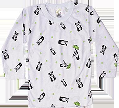 Camiseta Estampada Manga Longa Sem Botão