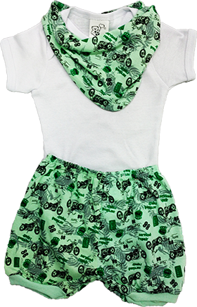 Conjunto Body Short Bandana