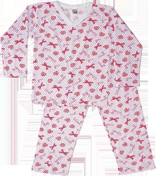 Pijama Estampado Felpado Fechado