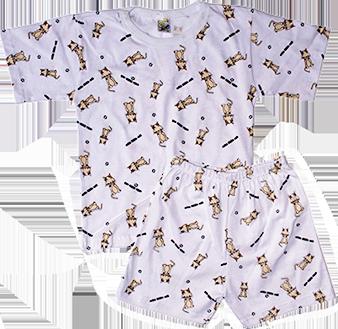 Pijama Manga Curta Estampado e Shorts