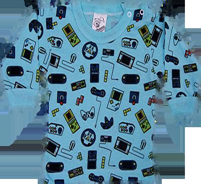Camiseta Manga Longa Estampada Com Botão