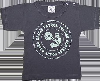 Camiseta Meia Manga Reativa Com Botão Com Silk