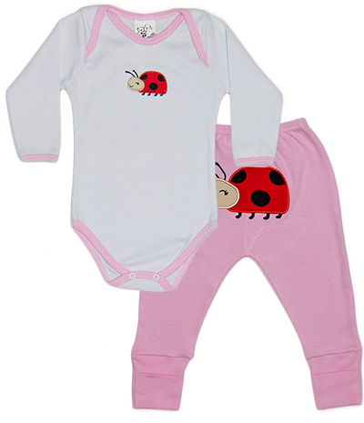 Conjunto Bichinho Body Suedine Bordado