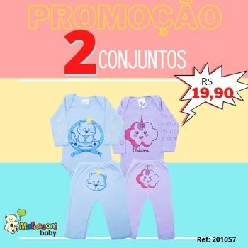 KIT CONJUNTO COM 2 PEÇAS C/ SILK P/G