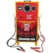 Carregador Auxiliar de Baterias Charger 500 - V8 Brasil