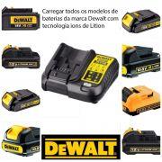Carregador de Bateria 12v e 20v Lítio  Dcb107 Dewalt
