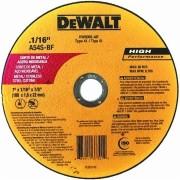 DISCO ABRASIVO PARA CORTE INOX 7 x 1.6 x 7/8 Pol. DW8065-AR DEWALT