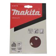 DISCOS DE LIXA 125MM GRAO 120 C/10 D-54178 MAKITA