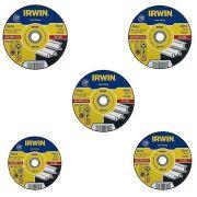 Jogo De 5 Discos De Corte Metal 180x3,0x22,2mm 1863758 Irwin