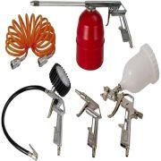Kit Para Compressor Schulz 5 Pç Calibrador Pistola D Pintura