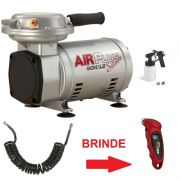 MOTOCOMPRESSOR DE AR 2,3 COM KIT AIR PLUS SILVER BIVOLT SCHULZ