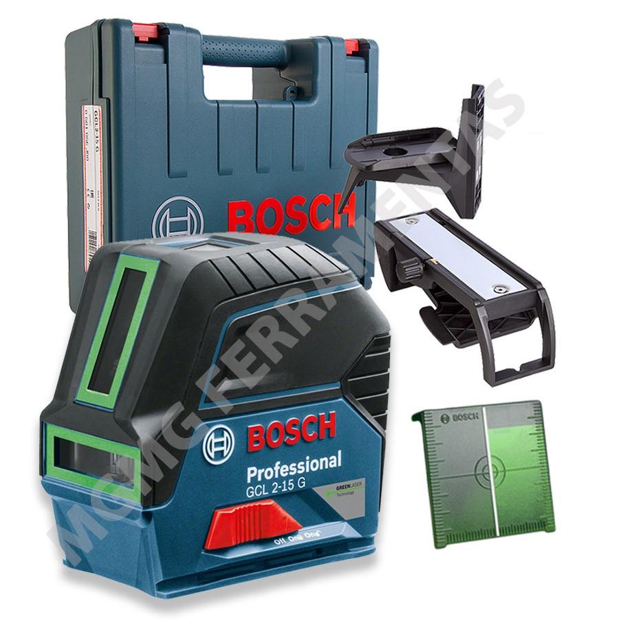nivel a laser verde bosh gcl 2 15 g arsenal tools. Black Bedroom Furniture Sets. Home Design Ideas