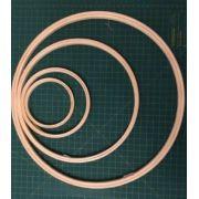 KIT de bastidores A10, A14, A25, A35  com 4 unidades - sem tarraxa. Diâmetros: 10 cm, 14 cm, 25 cm e 35 cm - (uma unidade de cada)