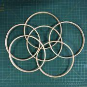 6 argolas simples de madeira para guirlandas e afins. Diâmetro:  20cm. Espessura : 1cm.(medidas aproximadas de cada peça)