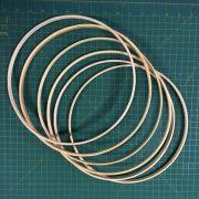 6 argolas simples de madeira para guirlandas e afins. Diâmetro:  30cm. Largura : 1cm. (medidas aproximadas de cada peça)