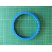 Bastidor de plástico AZUL com aproximadamente 15 cm de diâmetro