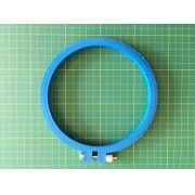 Bastidor de plástico AZUL com tarraxa, diâmetro aproximado de 15 cm
