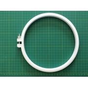 Bastidor de plástico BRANCO com tarraxa, diâmetro aproximado de 20 cm