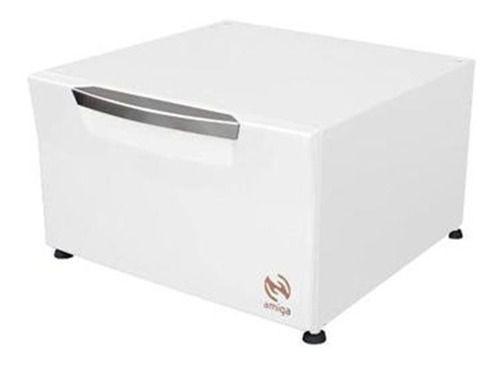 Pedestal Organizador Branca P/ Lava E Seca Samsung De 10,2kg